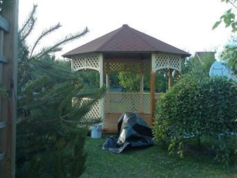 Pavillon - Gloriette de jardin Octogonale type Camargue A ...