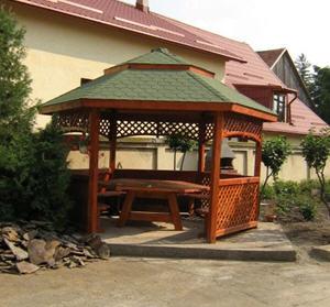 Pavillon gloriette de jardin hexagonale type romain a pavillons de jardin - Gloriettes de jardin ...